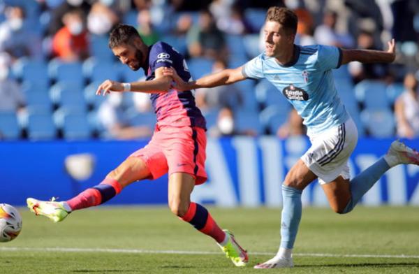 Atletico Madrid defeated Celta Vigo 2-1